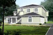 European Style House Plan - 4 Beds 4 Baths 4268 Sq/Ft Plan #1-911 Exterior - Front Elevation