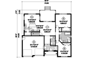 Traditional Style House Plan - 2 Beds 1 Baths 1608 Sq/Ft Plan #25-4539 Floor Plan - Main Floor Plan