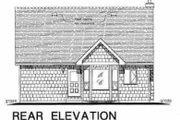 Country Style House Plan - 2 Beds 1 Baths 1007 Sq/Ft Plan #18-297 Exterior - Rear Elevation