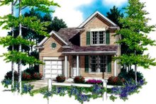 Traditional Exterior - Front Elevation Plan #48-315