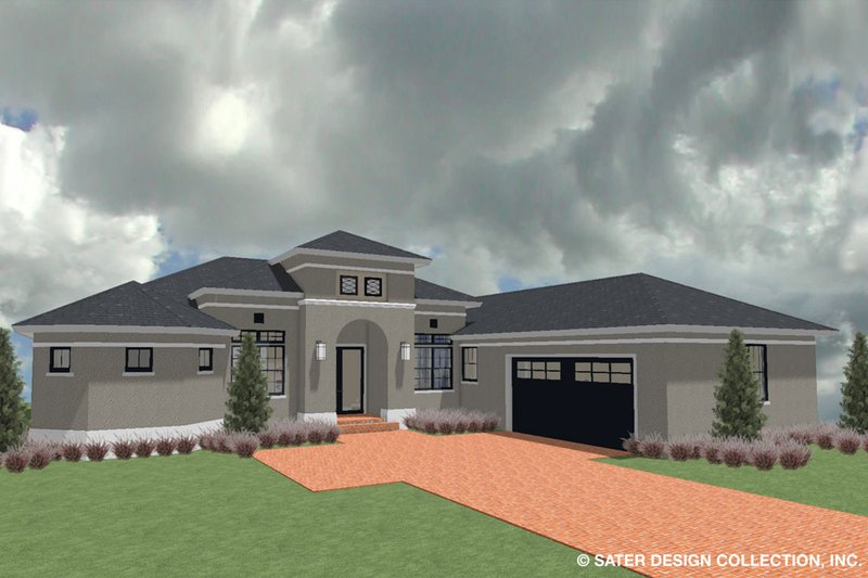 Architectural House Design - Ranch Exterior - Front Elevation Plan #930-487