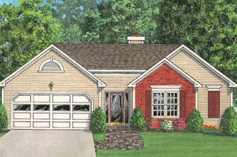 Traditional Exterior - Front Elevation Plan #56-108 - Houseplans.com