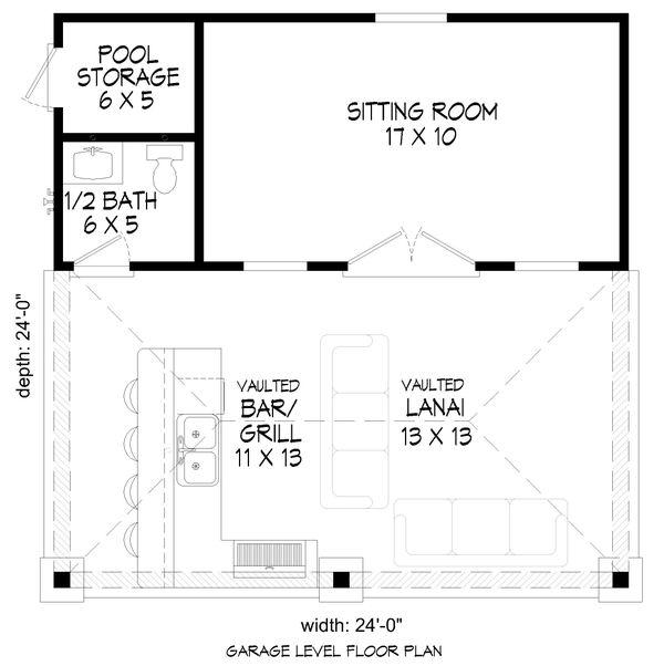 House Blueprint - Country Floor Plan - Main Floor Plan #932-354