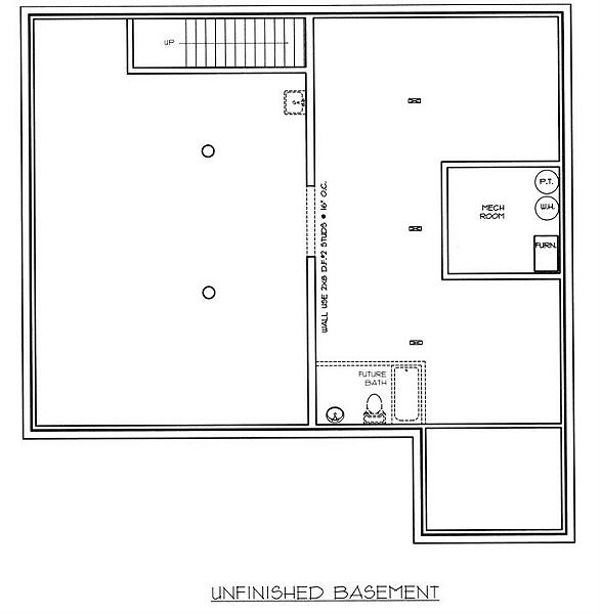 Log Floor Plan - Lower Floor Plan Plan #117-502