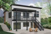 Contemporary Style House Plan - 4 Beds 1 Baths 2128 Sq/Ft Plan #23-2315 Exterior - Rear Elevation