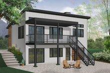 Contemporary Exterior - Rear Elevation Plan #23-2315