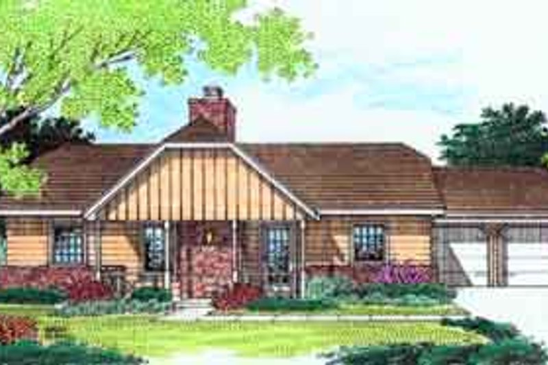 Traditional Style House Plan - 3 Beds 2 Baths 1187 Sq/Ft Plan #45-228 Exterior - Front Elevation