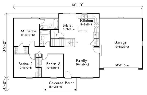 Ranch Floor Plan - Main Floor Plan #22-576