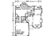 European Style House Plan - 3 Beds 3 Baths 2215 Sq/Ft Plan #47-577 Floor Plan - Main Floor Plan