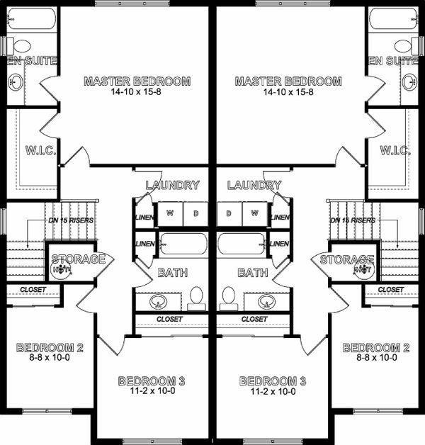 House Plan Design - Craftsman Floor Plan - Upper Floor Plan #126-197