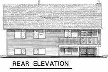Home Plan - Traditional Exterior - Rear Elevation Plan #18-312