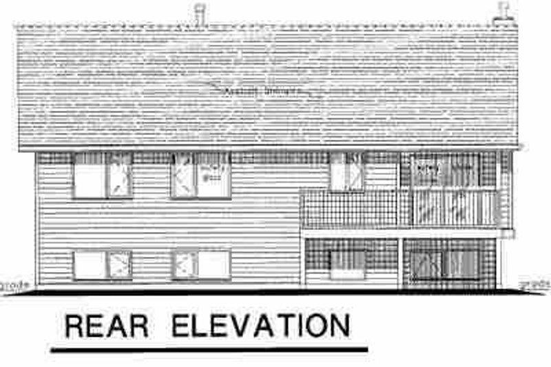 Traditional Exterior - Rear Elevation Plan #18-312 - Houseplans.com