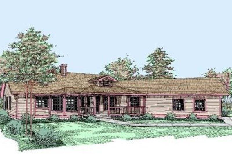 Ranch Exterior - Front Elevation Plan #60-406 - Houseplans.com