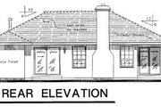 Mediterranean Style House Plan - 3 Beds 2 Baths 1416 Sq/Ft Plan #18-111 Exterior - Rear Elevation