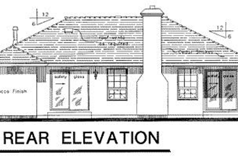 Mediterranean Exterior - Rear Elevation Plan #18-111 - Houseplans.com