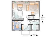 Traditional Style House Plan - 3 Beds 1.5 Baths 1680 Sq/Ft Plan #23-2625 Floor Plan - Main Floor Plan