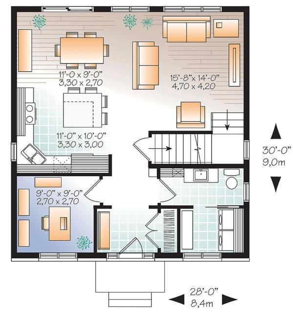 House Design - Traditional Floor Plan - Main Floor Plan #23-2625