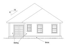 Home Plan - Cottage Exterior - Rear Elevation Plan #513-2179
