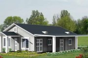 Adobe / Southwestern Style House Plan - 3 Beds 2 Baths 1256 Sq/Ft Plan #1-264 Exterior - Front Elevation