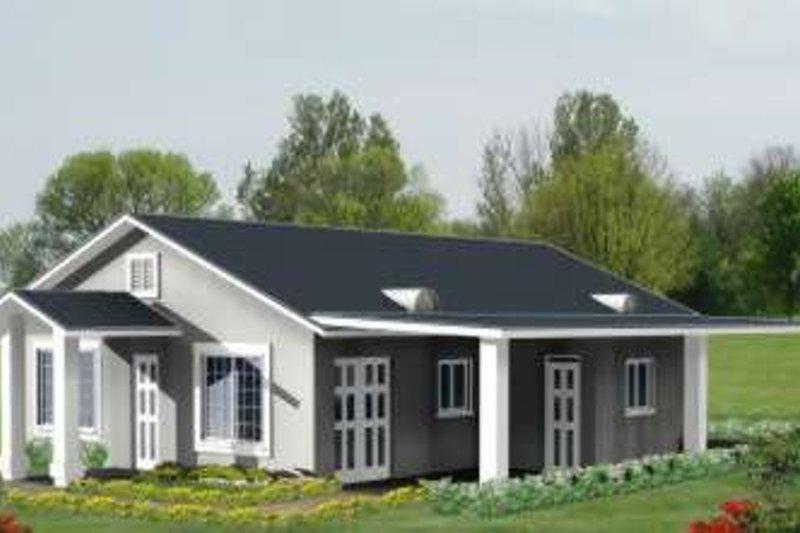 Adobe / Southwestern Style House Plan - 3 Beds 2 Baths 1256 Sq/Ft Plan #1-264