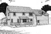 Country Style House Plan - 4 Beds 2.5 Baths 2260 Sq/Ft Plan #312-471 Exterior - Rear Elevation