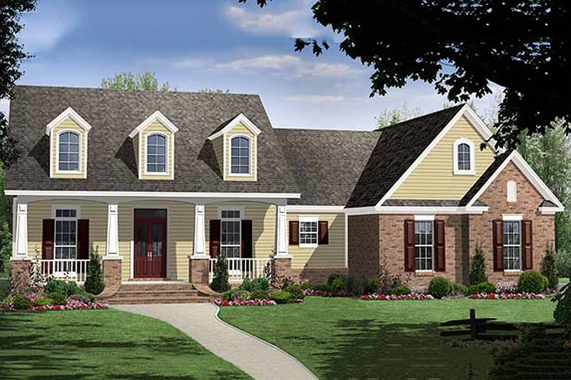 Country Exterior - Front Elevation Plan #21-284 - Houseplans.com