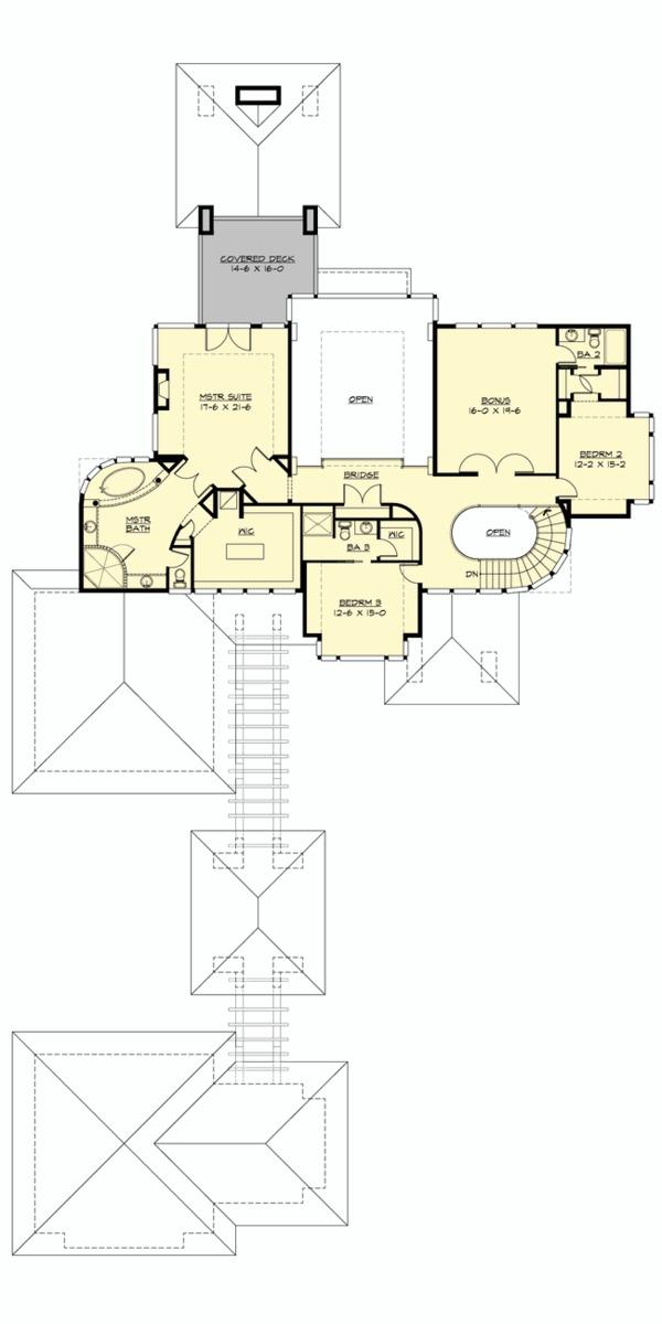 Prairie Floor Plan - Upper Floor Plan Plan #132-562