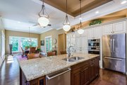 Ranch Style House Plan - 5 Beds 3.5 Baths 4406 Sq/Ft Plan #70-1502 Interior - Kitchen