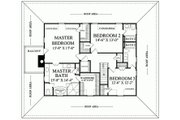 Southern Style House Plan - 3 Beds 3.5 Baths 3041 Sq/Ft Plan #137-254 Floor Plan - Upper Floor Plan
