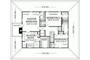 Southern Style House Plan - 3 Beds 3.5 Baths 3041 Sq/Ft Plan #137-254 Floor Plan - Upper Floor Plan