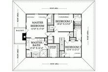Southern Floor Plan - Upper Floor Plan Plan #137-254