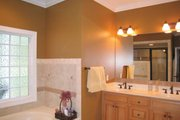 Country Style House Plan - 3 Beds 2.5 Baths 2123 Sq/Ft Plan #44-155 Interior - Master Bathroom
