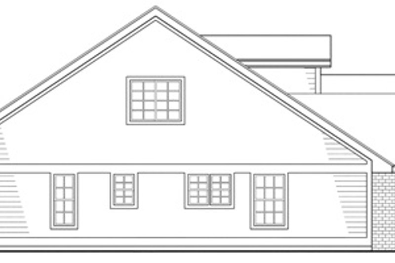 Traditional Exterior - Other Elevation Plan #124-403 - Houseplans.com