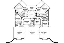 European Floor Plan - Main Floor Plan Plan #119-356