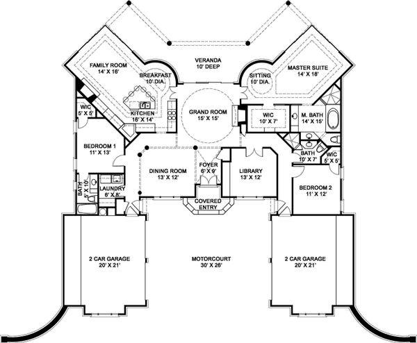 European Floor Plan - Main Floor Plan Plan #119-356
