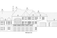House Plan Design - European Exterior - Rear Elevation Plan #20-2379