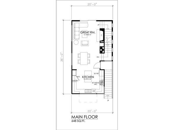 Modern Floor Plan - Main Floor Plan #484-3