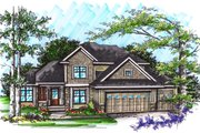 Ranch Style House Plan - 4 Beds 3 Baths 2316 Sq/Ft Plan #70-1033 Exterior - Front Elevation