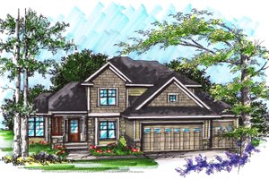 Ranch Exterior - Front Elevation Plan #70-1033