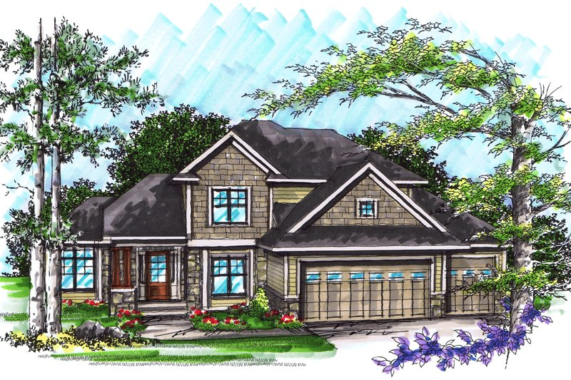 Ranch Exterior - Front Elevation Plan #70-1033 - Houseplans.com