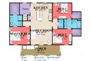 Farmhouse Style House Plan - 3 Beds 2.5 Baths 1207 Sq/Ft Plan #63-419 Floor Plan - Main Floor