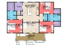Farmhouse Floor Plan - Main Floor Plan Plan #63-419