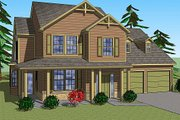 Traditional Style House Plan - 3 Beds 2.5 Baths 2092 Sq/Ft Plan #459-4 Exterior - Front Elevation