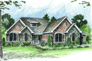 Cottage Style House Plan - 2 Beds 2.5 Baths 2159 Sq/Ft Plan #455-116 Exterior - Front Elevation