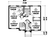 Traditional Style House Plan - 2 Beds 1 Baths 1086 Sq/Ft Plan #25-4826 Floor Plan - Main Floor Plan