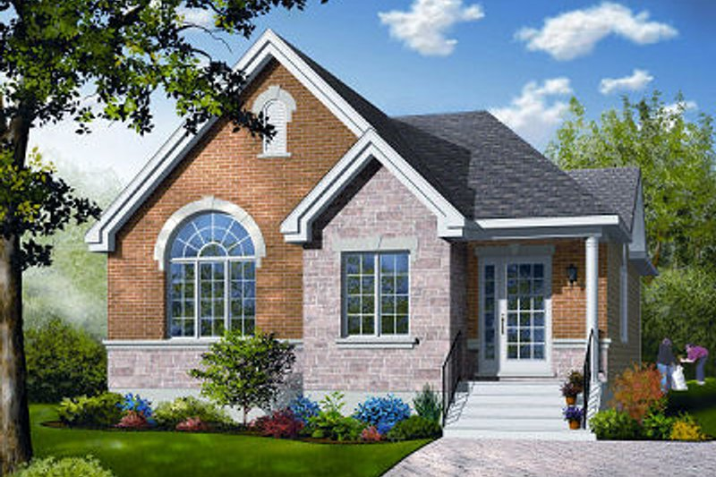 Dream House Plan - Traditional Exterior - Front Elevation Plan #23-796