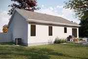 Ranch Style House Plan - 1 Beds 1 Baths 831 Sq/Ft Plan #455-226 Exterior - Rear Elevation