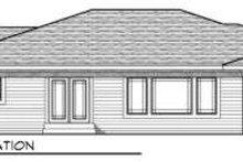 Dream House Plan - Ranch Exterior - Rear Elevation Plan #70-715