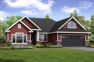 Country Exterior - Front Elevation Plan #124-1034