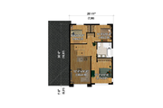 Contemporary Style House Plan - 3 Beds 1.5 Baths 1733 Sq/Ft Plan #25-4881